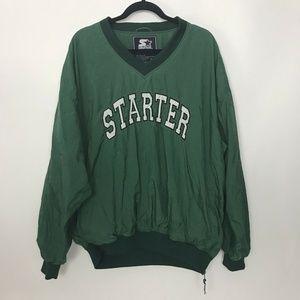 Vintage Starter Pullover Nylon Jacket Green Spello